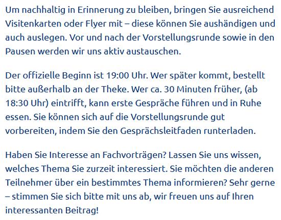 Heilbronner Unternehmertreffen aus  Limbach